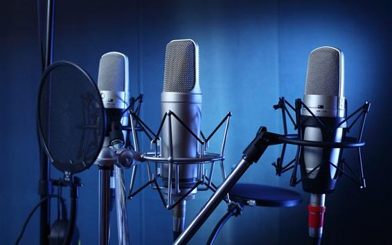 Papéis de Parede Microfones, estúdio