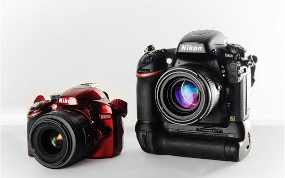 Wallpaper Nikon D3200 and D800 cameras