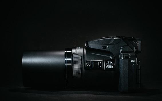 Wallpaper Nikon camera side view, lens