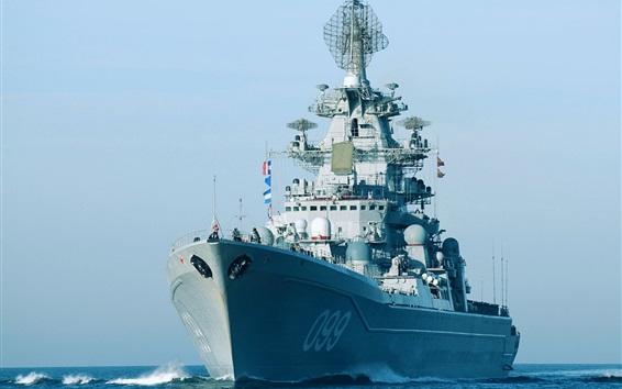Wallpaper Nuclear missile cruiser, army, sea
