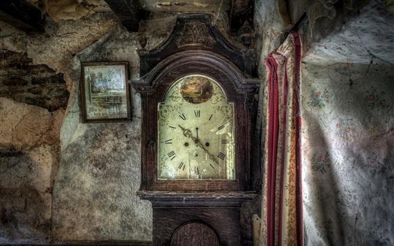 Fond d'écran Vieille horloge, photo, chambre