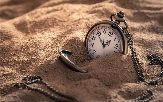 배경 화면 회중 시계, 모래