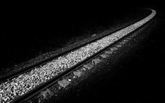 배경 화면 철도, 흑백 스타일
