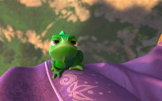 Papéis de Parede Rapunzel, Pascal, camaleão verde
