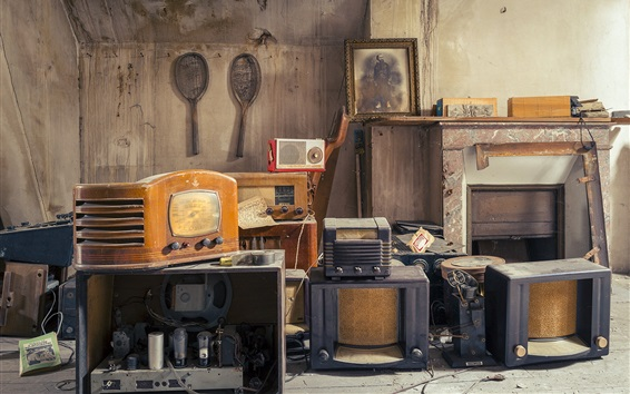 Wallpaper Receivers, radio, old electronic product