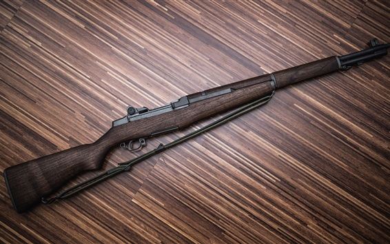 Wallpaper Rifle, weapons, wood background