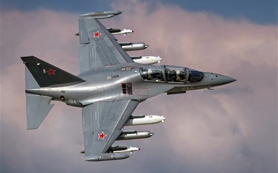 Wallpaper Russian air force, Yak-130 fighter