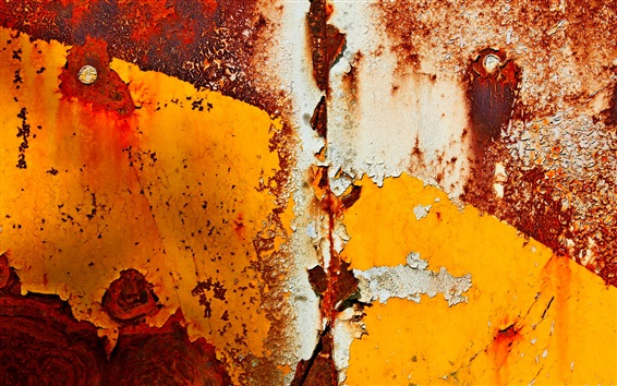 Wallpaper Rust metal surface, paint
