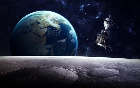Wallpaper Satellite, planet, universe
