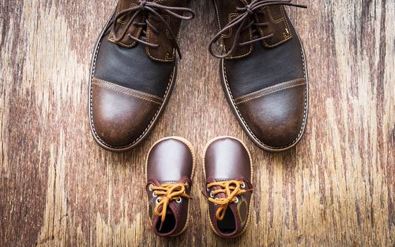 Wallpaper Shoes, wood board