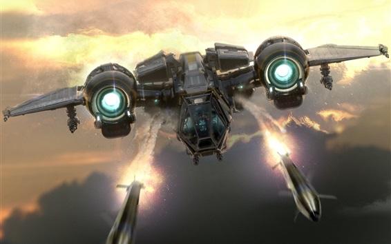 Wallpaper Star Citizen, fighter, spaceship