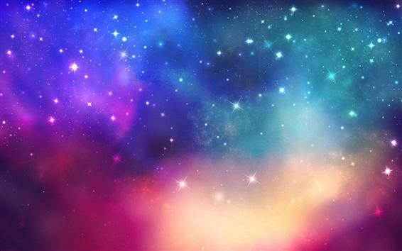 Fond d'écran Étoiles, espace, coloré