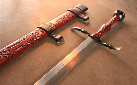 Fond d'écran Épée en acier