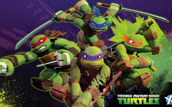 Wallpaper Teenage Mutant Ninja Turtles, TV series, anime