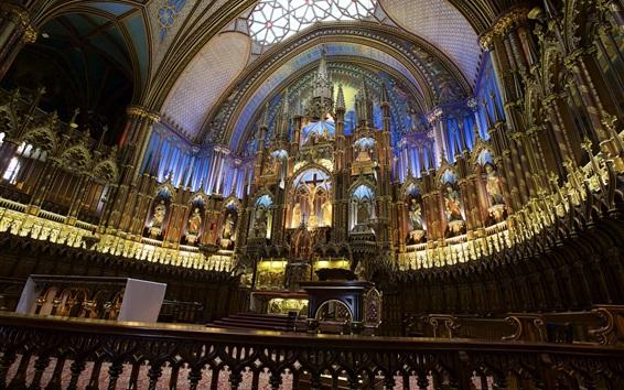 Wallpaper The Notre Dame Basilica, Church, Canada