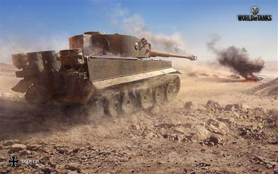 Wallpaper Tiger 131 tank, World of Tanks, video games