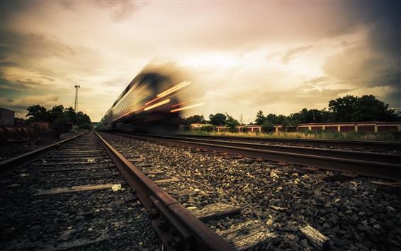 Wallpaper Train, railroad, high speed