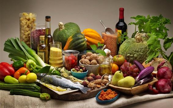 Papéis de Parede Legumes, frutas, nozes