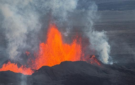 壁纸 火山,喷发,冰岛