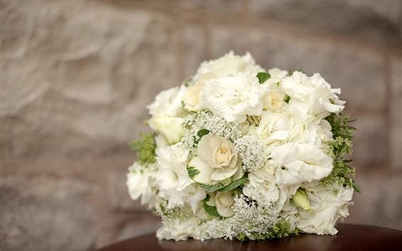 Wallpaper White hydrangea flowers, bouquet