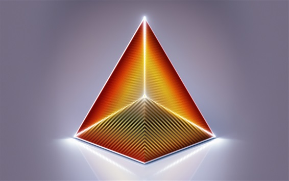 Wallpaper Abstract pyramid, triangle, design