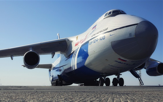 Wallpaper Antonov AH-124-100 Soviet Transport Aircraft