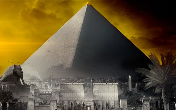 Wallpaper Assassin's Creed: Origins, Pyramid, Egypt