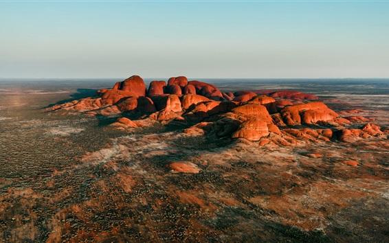 Papéis de Parede Austrália, kata tjuta, uluru-kata tjuta, parque nacional, montanhas