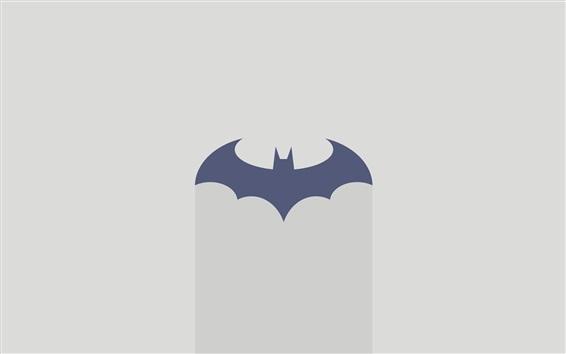 Papéis de Parede Logotipo do Batman, fundo cinza