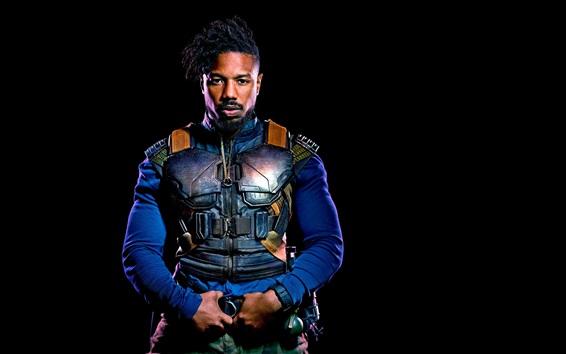 Wallpaper Black Panther, Erik Killmonger