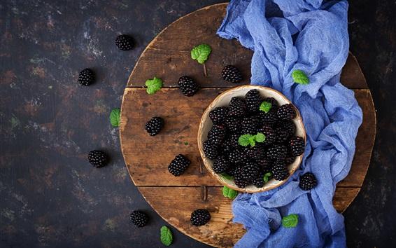 Wallpaper Blackberries, cloth