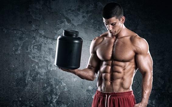Wallpaper Bodybuilder, man, muscles, power