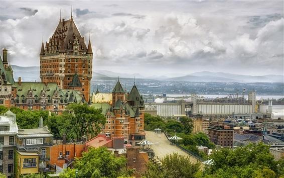 Papéis de Parede Canadá, quebec, chateau frontenac, hotel