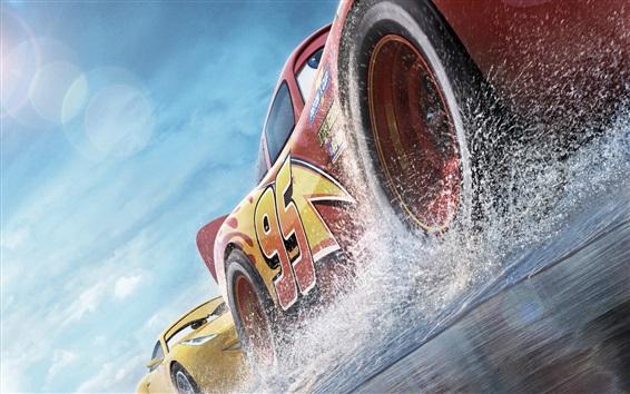 Wallpaper Cars 3, speed, water splash