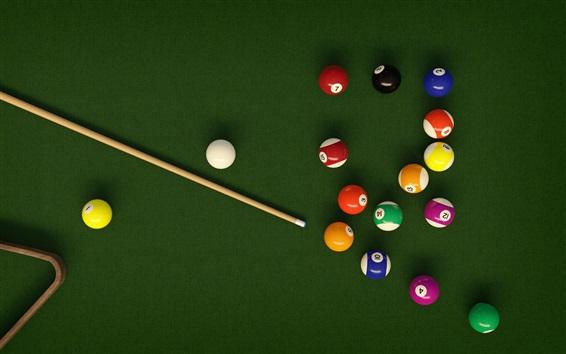 Wallpaper Colorful balls, Billiards, table