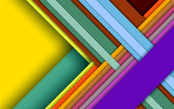 Wallpaper Colorful crossing, layers, shadows, abstract