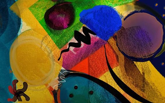 Papéis de Parede Pintura colorida, abstrato