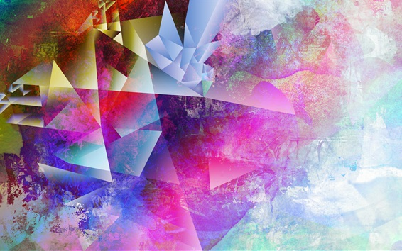 Wallpaper Colorful style picture, art design, abstract
