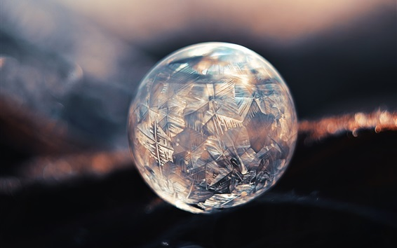 Wallpaper Crystal ball, ice