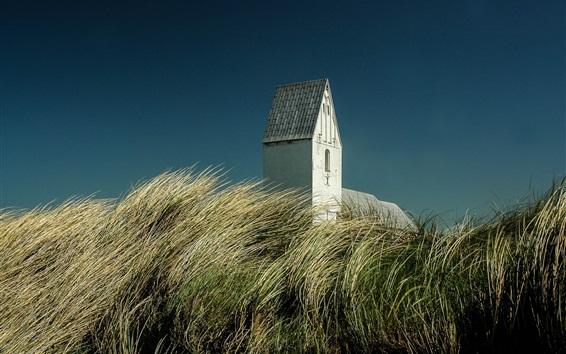 Papéis de Parede Dinamarca, grama, construção, céu
