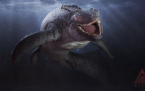 Wallpaper Depth, video games, shark, teeth
