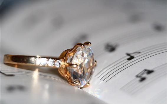 Обои Алмазное кольцо, книга