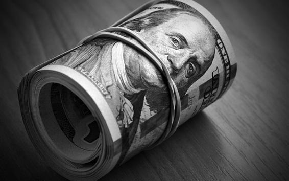 Wallpaper Dollar, one roll, money