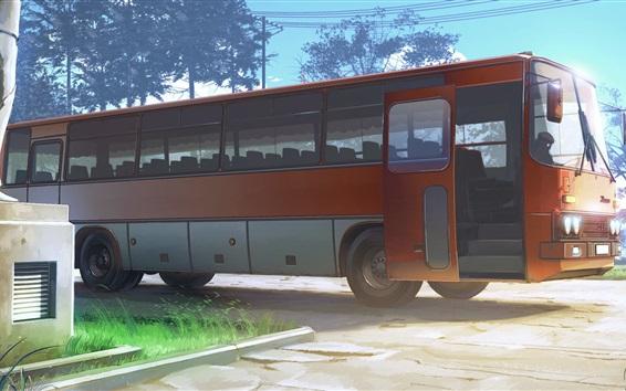 Wallpaper Everlasting Summer, bus, game