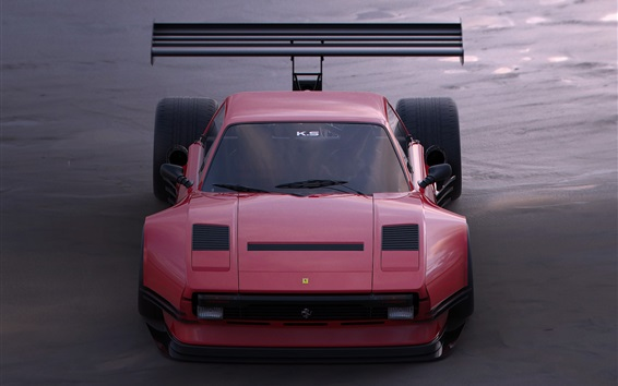 壁紙 フェラーリピンクのスーパーカー