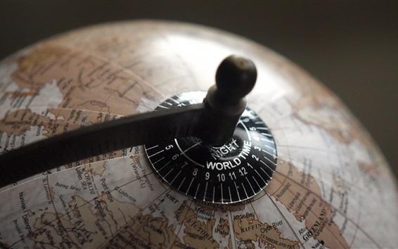 Wallpaper Globe, earth, global time