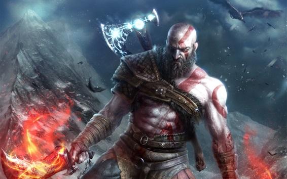 Wallpaper God of War 4, video games