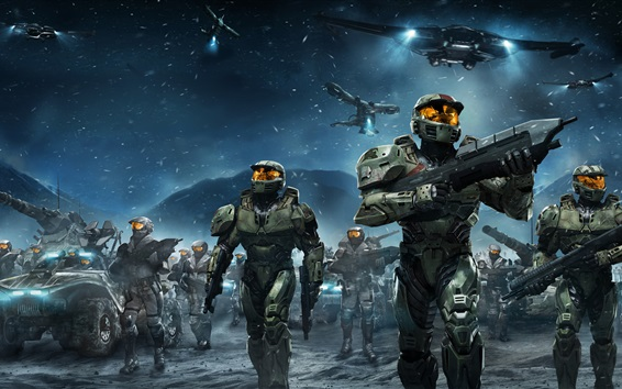 Wallpaper Halo Wars, video games