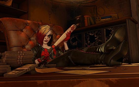 Hintergrundbilder Harley Quinn, Baseballschläger, Comics, Spiel, Kunstbild
