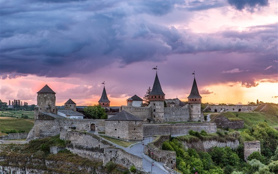 Wallpaper Kamianets-Podilskyi fortress, castle, Ukrainian